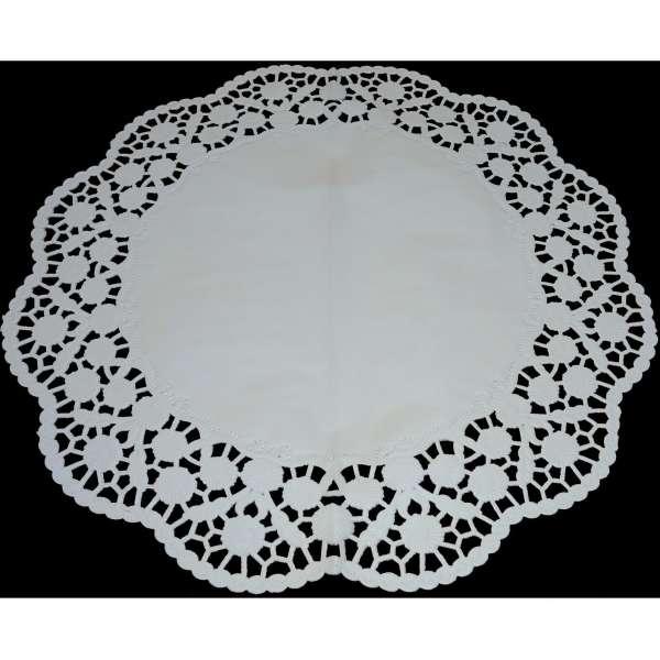 6x Tortenspitze Unterlage Platzset rund weiß Torten Serviette Papier Spitze 36cm
