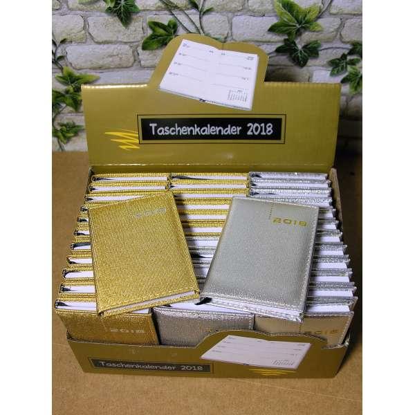 36er Set Taschenkalender 2018 DELUXE Gold und Silber Organizer Timer Business Glitzer A7