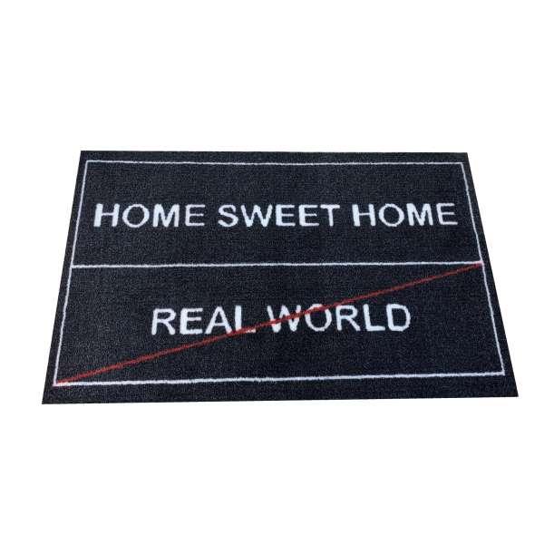 Fußmatte 75cm Home Sweet Home / Real World Türmatte Bodenmatte Fußabtreter