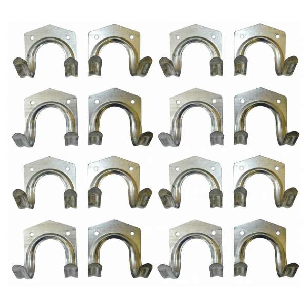 4x 4er Set Gerätehalter Werkzeughalter Stahl-Haken Gerätehaken Universal Halter