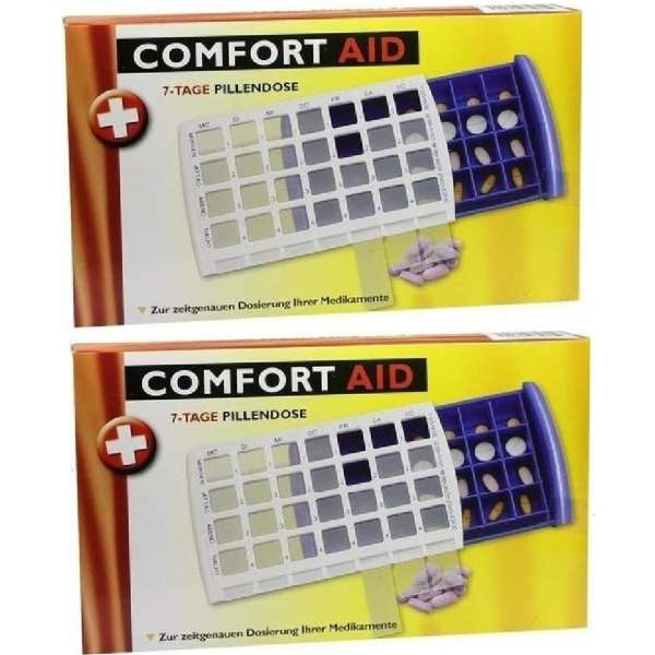 2 x 7-TAGE TABLETTENDOSE PILLENDOSE Pillenbox Tablettenbox Spender Medikamenten-Box