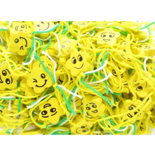 100x Smiley Streuteile Anhänger Holz Tisch Streu Deko Mitgebsel Feier Geburtstag