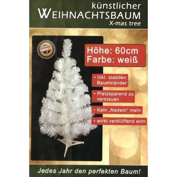 Künstlicher Tannenbaum weiss Weihnachtsbaum 60cm Christbaum Ständer Weihnachten