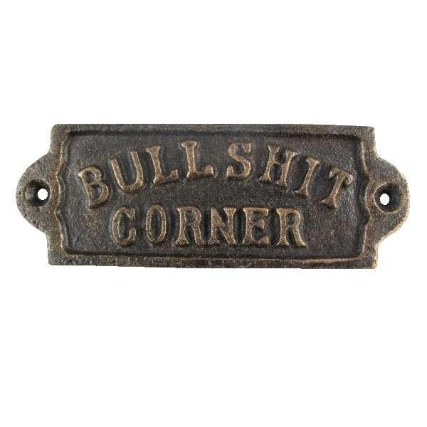 Nostalgie Türschild Bullshit Corner Eisen Wand Zimmer Tür Schild Country Retro
