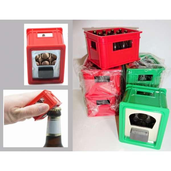 6x Flaschenöffner Bierkasten mit Magnet Kapselheber Kronkorken Öffner Kühlschrank