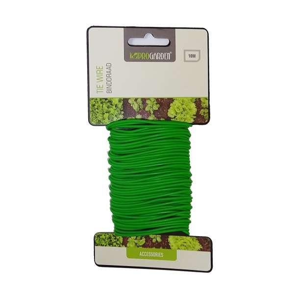 PROGARDEN Bindedraht Pflanzendraht Gartendraht Pflanzenhalter Draht grün 10m
