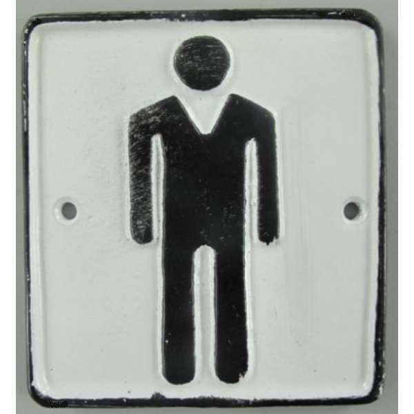Türschild Herren Toilette Gusseisen Wandschild Schild WC Nostalgie Piktogramm