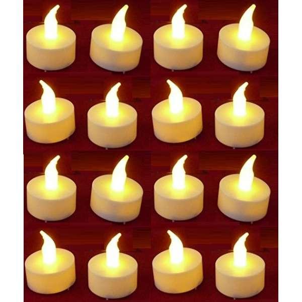 16x LED Teelicht ElektrischeTeelichter Flackernde Teelichter Flammenlose Kerze Batterie