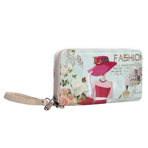Damen Geldbörse XL Fashion Paris Portmonee Geldbeutel Langbörse Brieftasche