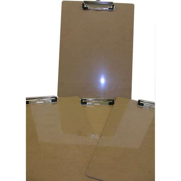 10x Klemmbrett A4 Schreibbrett Schreibplatte Hartfaser Aufmass Feldbuch Holz
