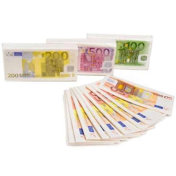 40 Taschentücher 50,100,200,500 Euro Geldscheine Set Taschentuch Geschenk Idee