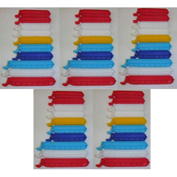 50x Verschlussclips Frischhalteclips Gefrierbeutel Clips Beutel Klammern 8-10cm