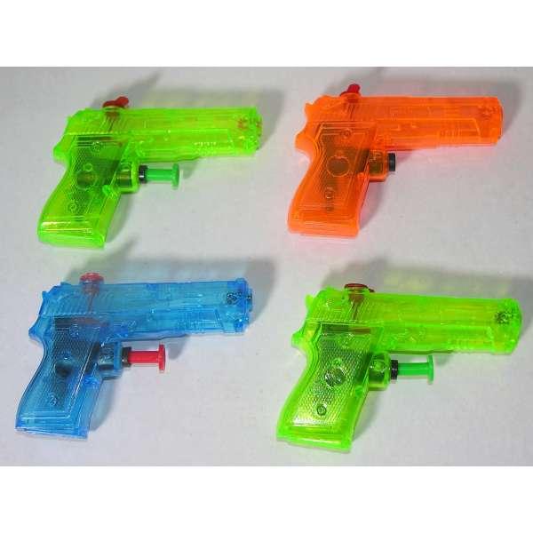 4x Kinder Wasserpistole 9x7cm Spritzpistole Wasserspritze Mitgebsel Tombola Party