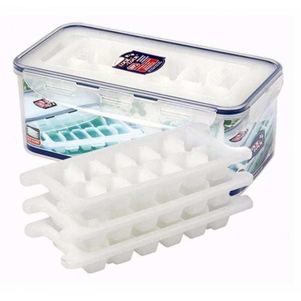 Lock&Lock Frischhaltedose 3,4L mit 3 Eiswürfelformen Eiswürfel Toastbrot Dose