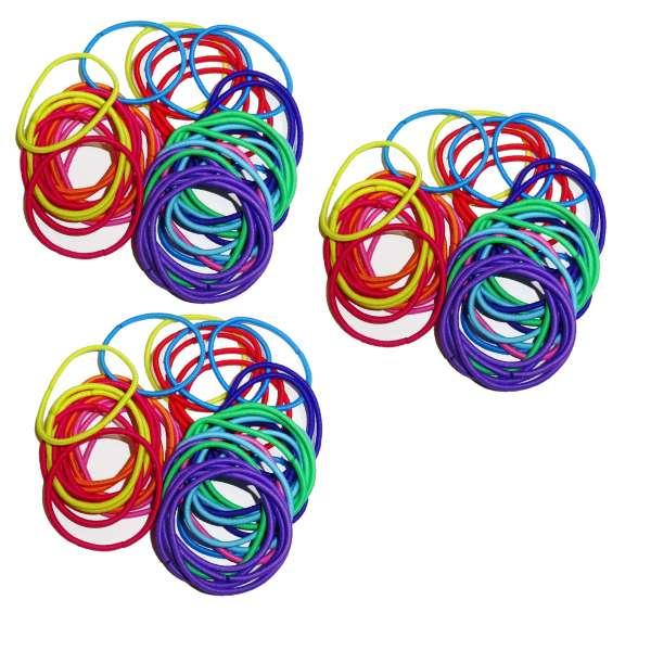120x Haargummis im Set bunt Haarbänder Haar Schmuck Gummis Zopfgummi elastisch