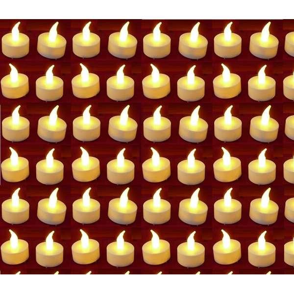 40x LED Teelicht ElektrischeTeelichter Flackernde Teelichter Flammenlose Kerze Batterie