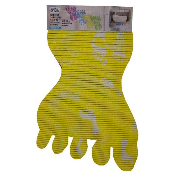 Badematte Fuß Badvorleger 73x47cm gelb weich Antirutsch Matte Bad Dusch Garnitur