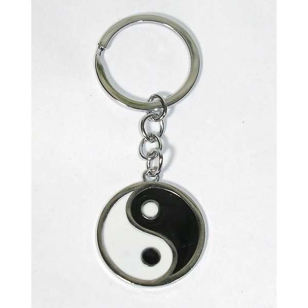 Yin Yang Schlüsselanhänger Schlüssel Anhänger schwarz weiss Feng Shui Ying