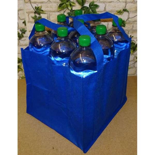 Flaschenträger für 9 Flaschen Tragetasche Bottlebag Flaschentasche Tasche blau