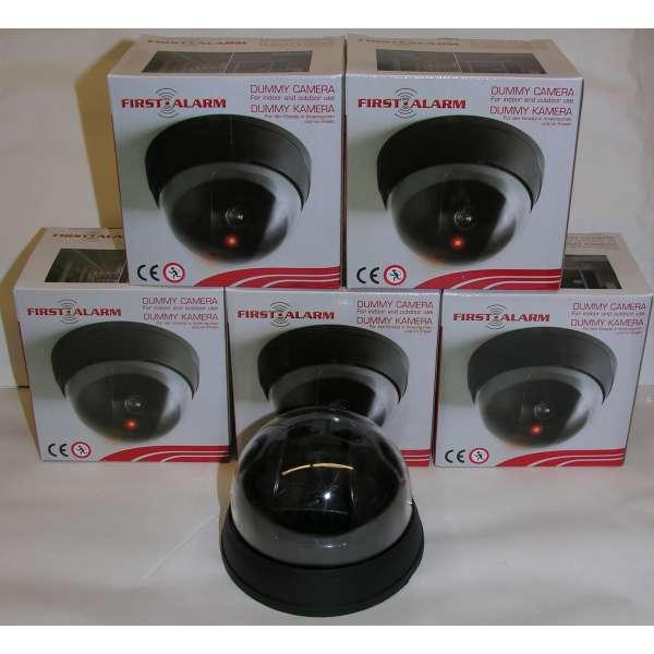 5x Dummy Überwachungskamera Video Kamera wireless Attrappe in-/outdoor LED