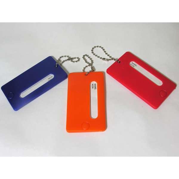 3 feste Kofferanhänger bunt mit Namensschild Kunststoff Gepäck Anhänger