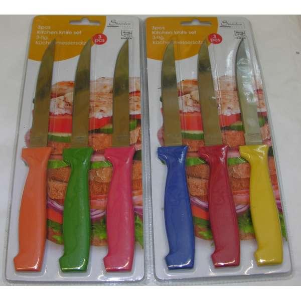 6tlg. Küchenmesser Set Edelstal Steakmesser Obstmesser Säge Messer rostfrei