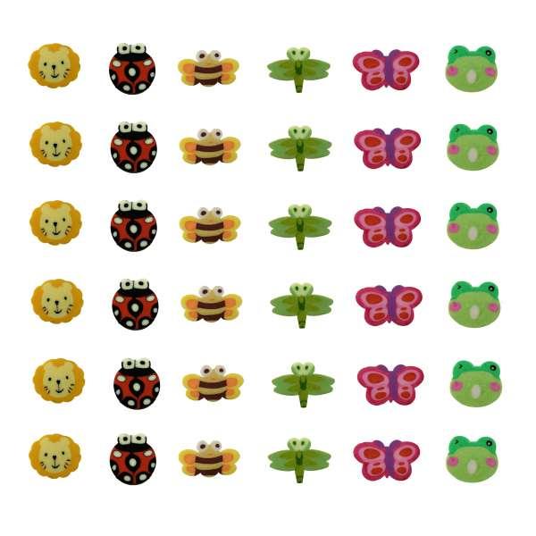 36x Radiergummi Tiere Radierer Mitgebsel Kindergeburtstag Party Tombola lustig
