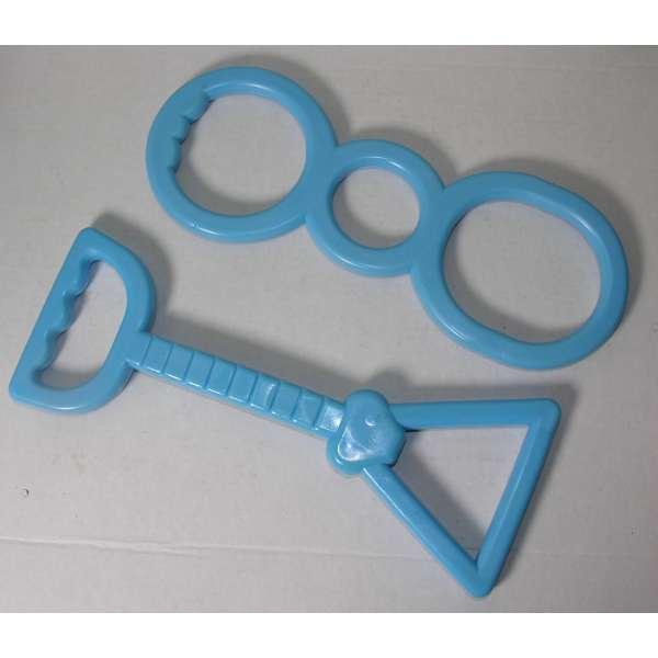 2er Set Hundespielzeug mit Handgriff Zerr Zieh Tau Kau Spielzeug Hund Haustier blau