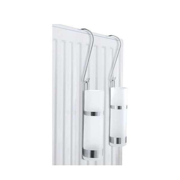 4x Luftbefeuchter Edelstahl Glas Wasser-Verdunster Heizung Wasserverdunster Verdampfer