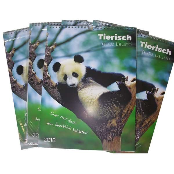 5x Wandkalender 2018 Tierisch gute Laune Kalender lustige Tiere Fotokalender