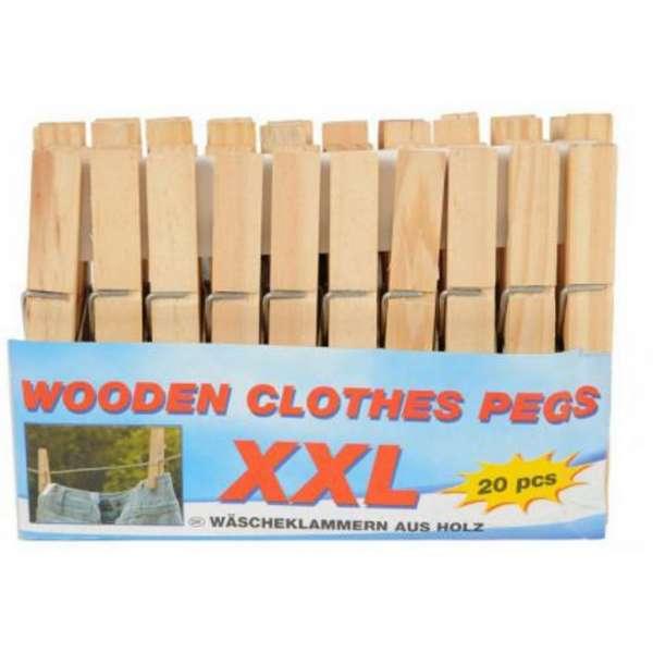 Wäscheklammern XXL aus Holz große Holzwäscheklammern 20 Stück