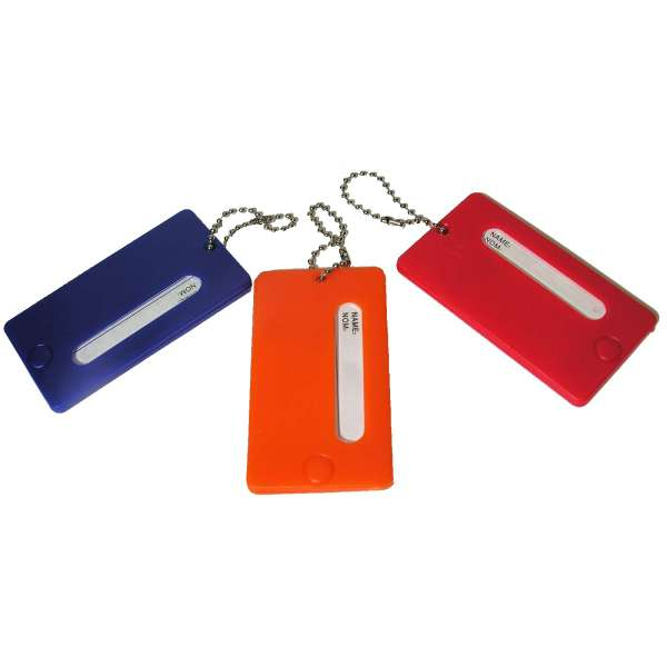 Fester Kofferanhänger mit Namensschild Kunststoff Gepäck Anhänger Farbwahl