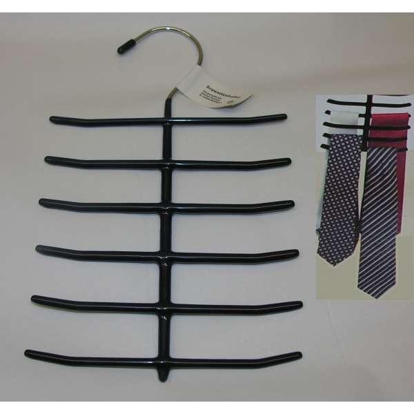 Krawattenhalter dunkelblau für 12 Krawatten Bügel Tuchhalter Schlipshalter