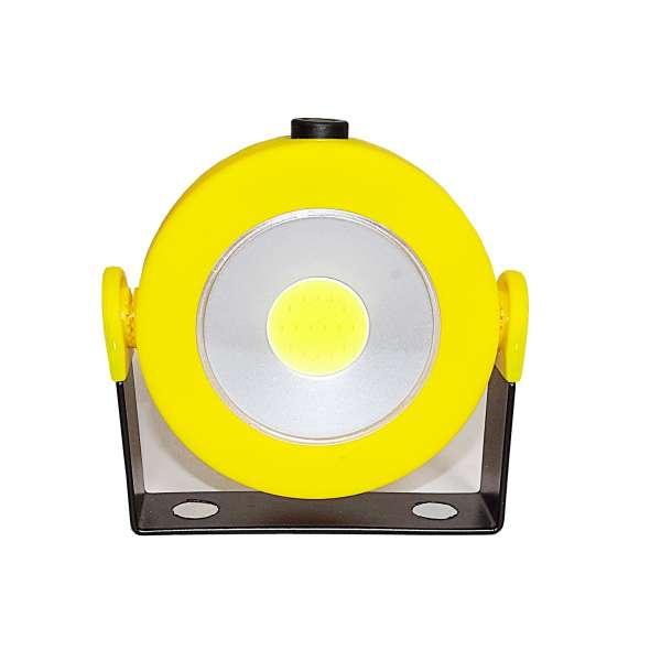 COB LED Fluter Arbeitslampe Taschenlampe Magnet kabellos 180 grad Dimmer und Blitz rund