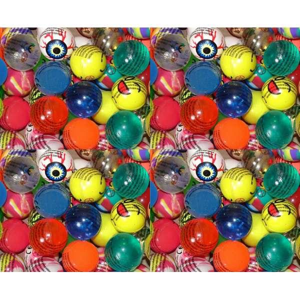 50x bunte lustige Flummis Gummiball Hüpfball Springball Flummi Tombola Mitgebsel Party