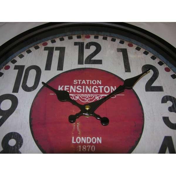 Nostalgische Wanduhr Metall Glas Kensington 35cm Shabby Chic Antik Landhaus Stil