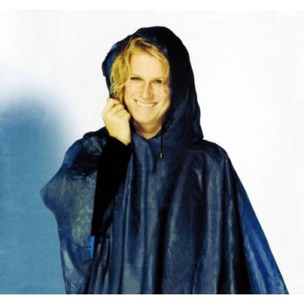 Fester REGENPONCHO mit Kapuze+Tasche faltbar Regenjacke Regencape Regenschutz
