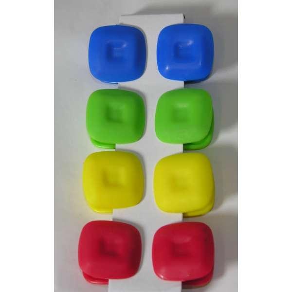 8er Set Magnet Klammern Memohalter Clips bunt Notiz Zettelhalter Kühlschrank Magnete