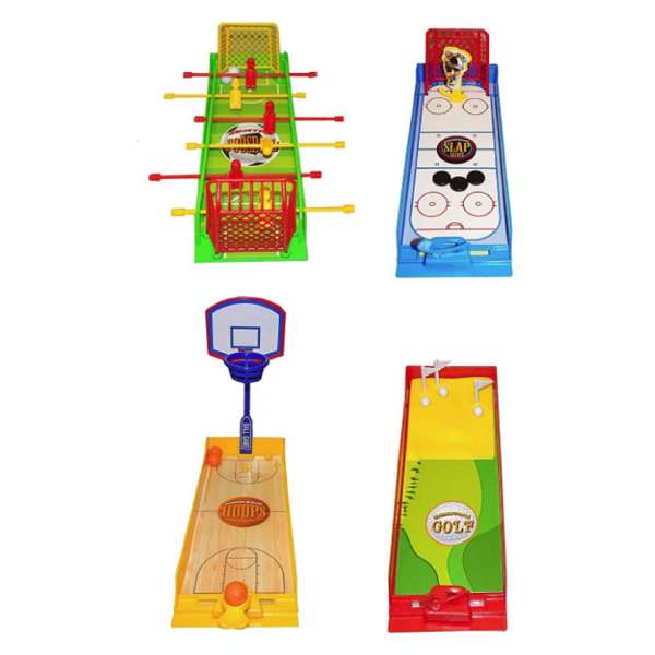 4x Mini Reisespiel Sport Ball Spiel Hockey Basketball Golf Fussball Kinder