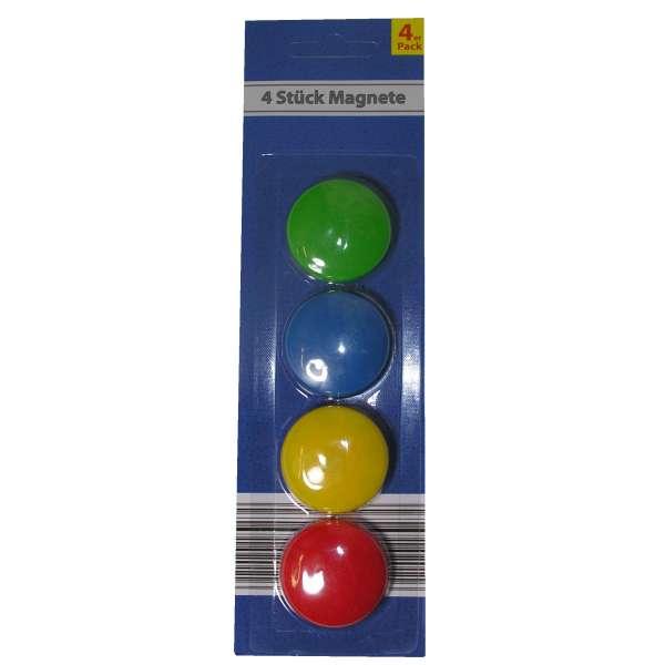 4x Kühlschrank Magnete Memomagnet Memohalter Zettelhalter Büro bunt rund 37mm