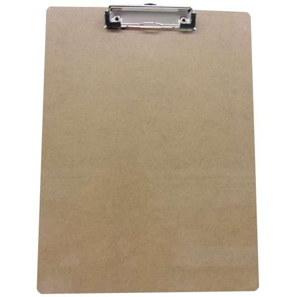 Klemmbrett A4 Schreibbrett Schreibplatte Hartfaser Aufmass Feldbuch holz-farben