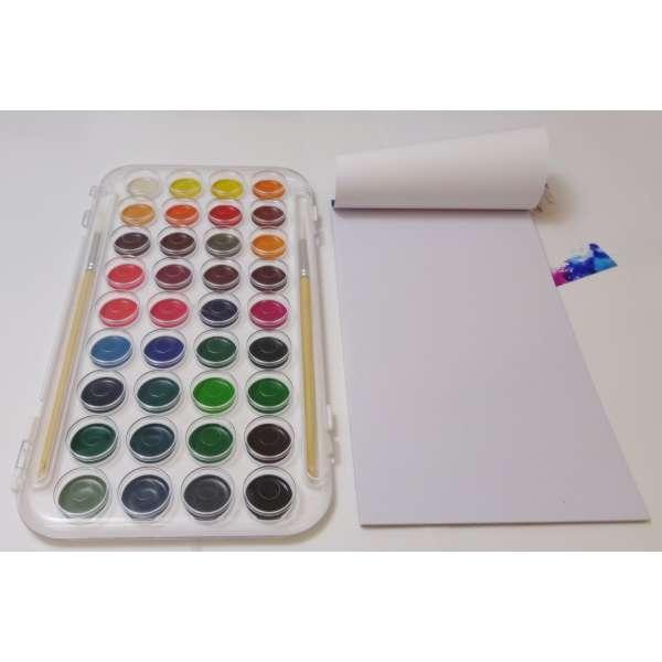 45tlg Malkasten Wasserfarben Pinsel Farbpalette Künstler Farbkasten Malset Malen