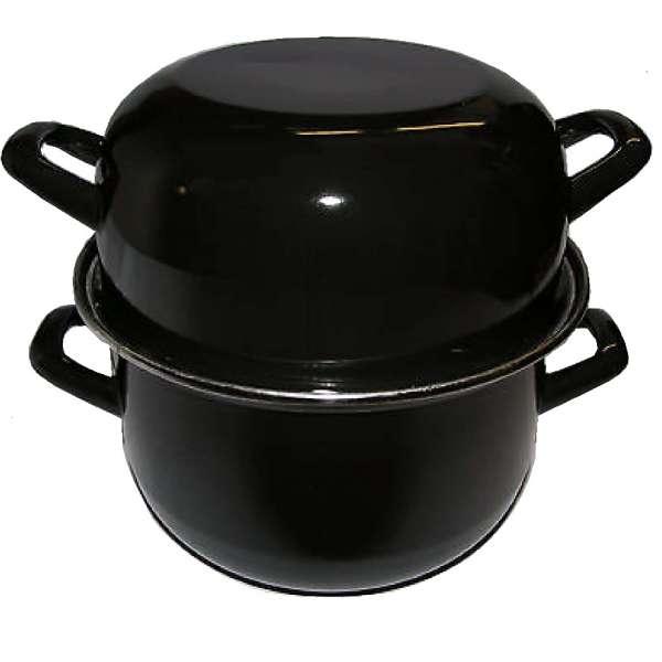 Kochtopf Muscheltopf für ca. 1kg Muscheln Topf mit Deckel Mussel Pott Meeresfrüchte