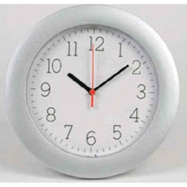 Moderne WANDUHR Küchenuhr 25cm Silber-Weiss Bürouhr Bahnhofsuhr Uhr Wall Clock
