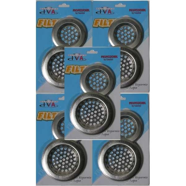 5x 2er Set Abflusssiebe 60/75mm Metall Spülbecken Haarsieb Waschbecken Ablauf Siebe