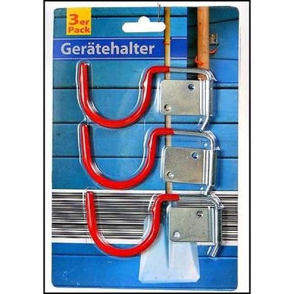 3x Gerätehalter Haken Werkzeughalter Gartengerätehalter Besenhalter Stielhalter
