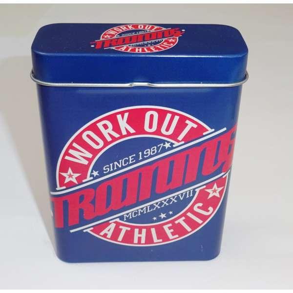 Zigarettenetui Zigarettenbox Box Behälter Metall für 24 Zigaretten Zigarillo Work Out