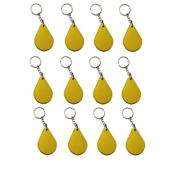 12er Set Lupe Einschlaglupe an Kette Vergrößerungsglas Mitgebsel Kinder gelb