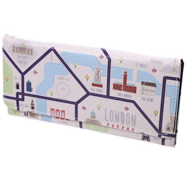 Damen Geldbörse XL Stadtplan LONDON Portmonee Geldbeutel Langbörse Brieftasche