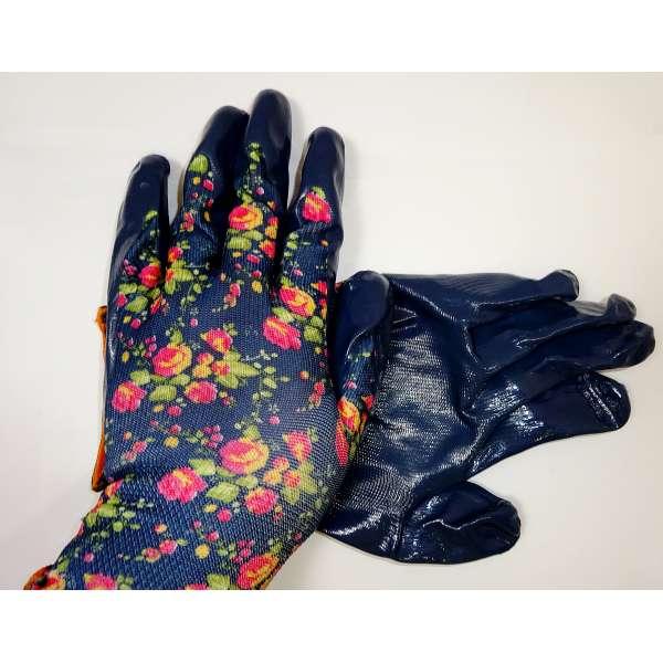 1 Paar Gartenhandschuhe Arbeitshandschuhe Gartenarbeit Damen Handschuhe Blau